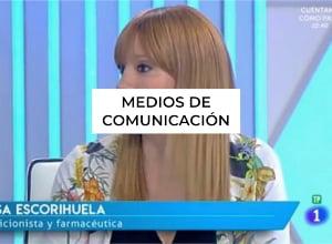 Nutricionista medios de comunicación